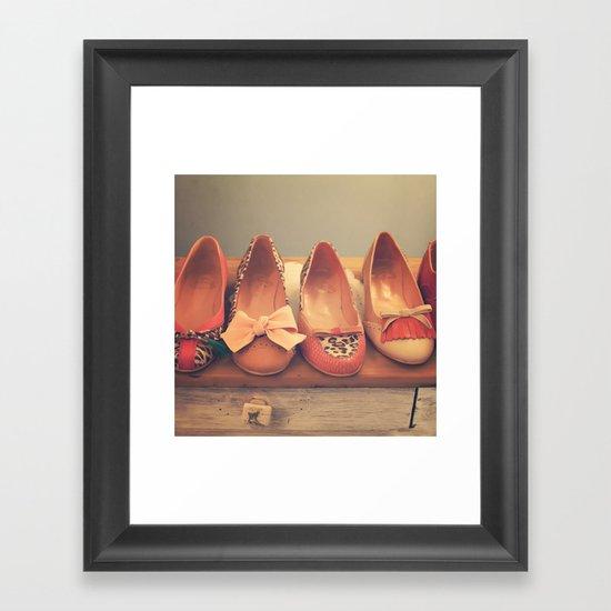 Vintage Shoes and Heels  Framed Art Print