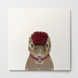 little red squirrel Metal Print