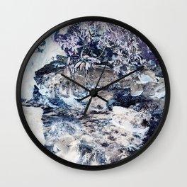Cinder Leaves Wall Clock