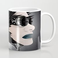 sci fi Mugs featuring Sci-Fi Series 2 by eos vector