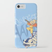 aang iPhone & iPod Cases featuring Avatar Aang by LeticiaFigueroa