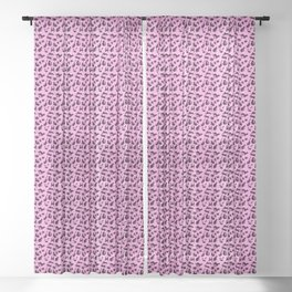 Leopard Kitty - pink Sheer Curtain