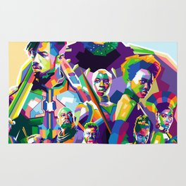 Blak Panther Series In Pop Art Rug