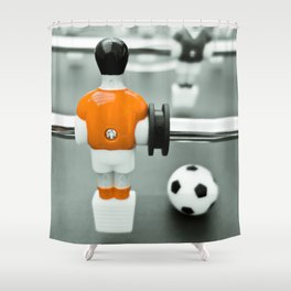 Table Football 02B - Defender - Orange (everyday 30.01.2017) Shower Curtain
