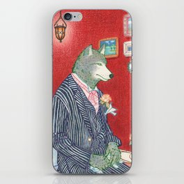 Everyday Animals - Mr Wolf gets ready for his wedding iPhone Skin