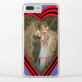"""Chats amoureux 1900, la partition"" / ""Lovers cats 900, the partition"" Clear iPhone Case"