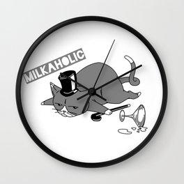 Milkaholic Cat Baron Wall Clock