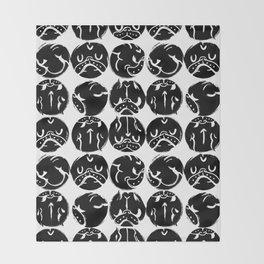 Black French Bulldog Dot Throw Blanket
