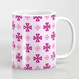 geometric flower 93 pink Coffee Mug
