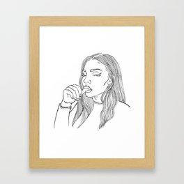 Nail Biter Framed Art Print