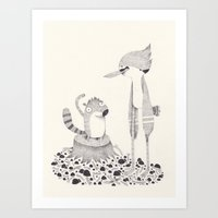 regular show Art Prints featuring regular show by yohan sacre