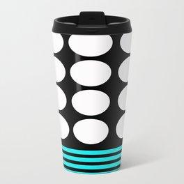 Desing pattern black and white followed by Tuerkies Travel Mug