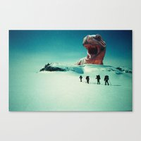 dino Canvas Prints featuring Dino by CRABFISH