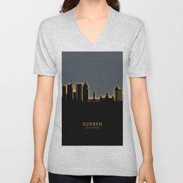 Durban South Africa Skyline Unisex V-Neck