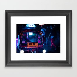 Bangkok Thailand Neon Tuk Tuk 1 Framed Art Print