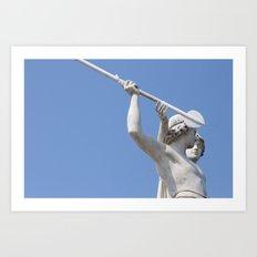 Halted Spear Art Print