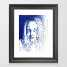 portrait of a girl  Framed Art Print
