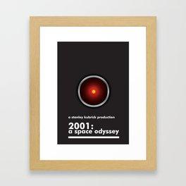 2001: A Space Odyssey - HAL 9000 Framed Art Print