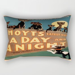Vintage poster - A Day and a Night Rectangular Pillow