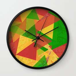 Through The Colors Wall Clock