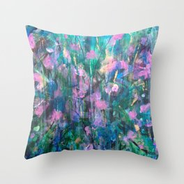 """FAIRY DREAMS"" Original Painting by Cyd Rust Throw Pillow"