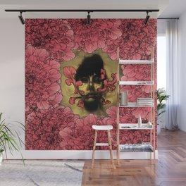 I Am Serius With Flowers Wall Mural