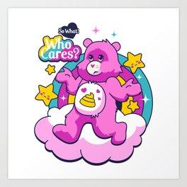 Who cares? Bear Art Print
