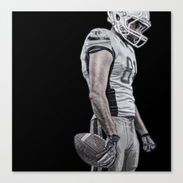 The Wide Receiver  Canvas Print