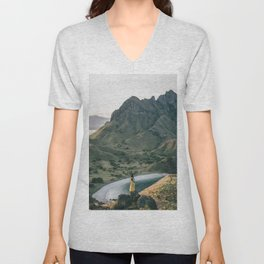 Yellow Moutain Unisex V-Neck