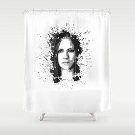 avril lavigne desain 002 Shower Curtain
