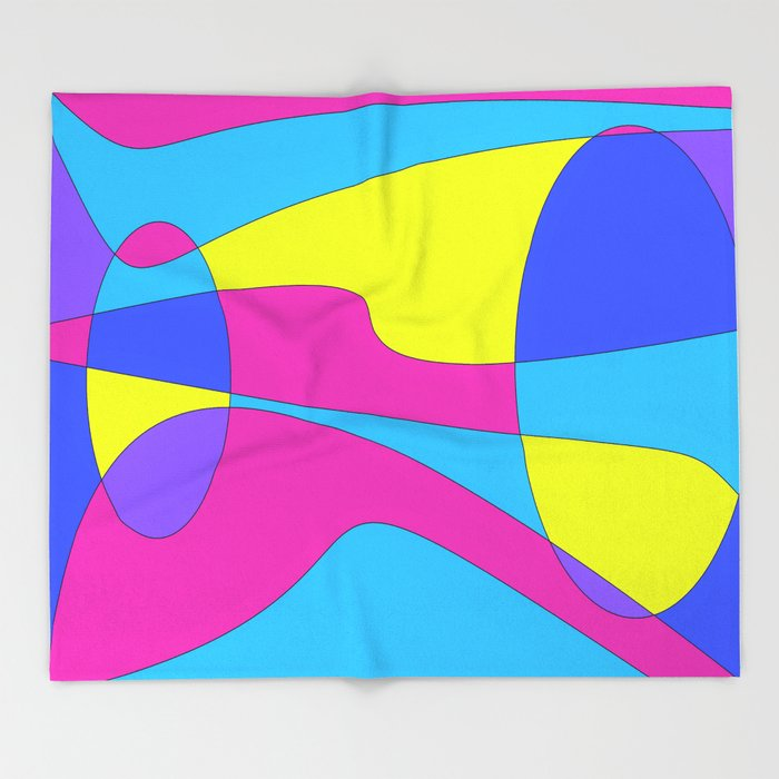 Colors in Sound Neon Throw Blanket