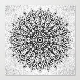 Mandala in grey Canvas Print