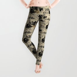 Murder on the Orient Express (Agatha Christie) Toile de Jouy Leggings