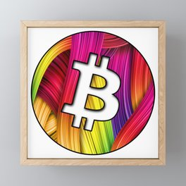 Bitcoin magic colours Framed Mini Art Print