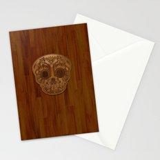 Wooden Sugar Skull Stationery Cards