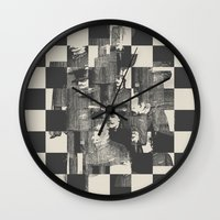 grand theft auto Wall Clocks featuring Identity Theft by Heinz Aimer