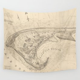 Vintage Provincetown and Truro MA Map (1836) Wall Tapestry