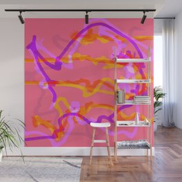 Fluffy lines twisting and turning no. 9 Wall Mural
