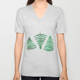 Fiordland Forest Ferns Unisex V-Neck