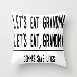 Let's Eat Grandma - Commas Save Lives Throw Pillow