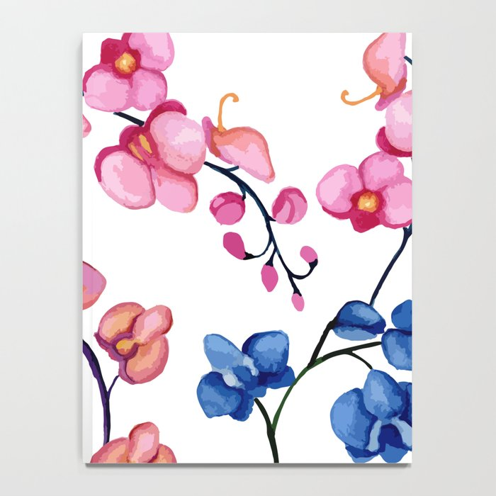 Orchids. Watercolor Notebook