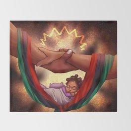 Revolutionary Black Love Throw Blanket