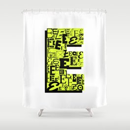 Letter E Shower Curtain