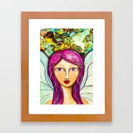 Angel of Peace - Gold Lotus Oracle Series Framed Art Print