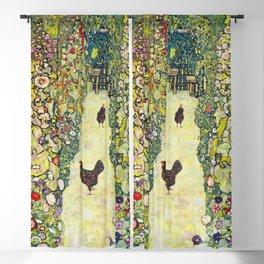 """Gustav Klimt """"Garden Path with Chickens"""" Blackout Curtain"""