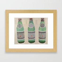 green glass bottles Framed Art Print