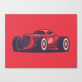 GAZ GL1 Custom Vintage Hot Rod Classic Street Racer Car - Red Canvas Print
