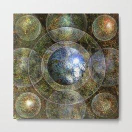 Nine Spheres to Enlightenment Metal Print