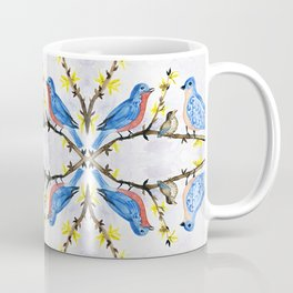 eastern bluebird watercolor painting Coffee Mug
