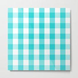 Blue and white Tartan (Scotch) Pattern Metal Print